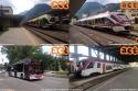 Stazione di Trento dove troviamo gli elettrotreni ETI impiegati nella Ferrovia Trento-Malè-Mezzana e i Flirt della SAD impiegati nei regionali per Verona. Foto di Luca Kaiblinger(19-08-'17)