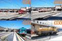 A Roma Termini troviamo Freccie Bianche, Freccie Rosse, l'ALn 663-1120 e una locomotiva da cantiere (1375 CV) di proprietà SE.GI., impresa che opera nell'edilizia ferroviaria. Foto Carlo Ferrone. (23-08-'17)