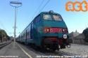 Treno Regionale Veloce composto da locomotiva E464 + 4 carrozze MDVE + semipilota MDVC ripreso al binario 2 della stazione di Passignano sul Trasimeno. foto Aldo Cincotti. (06-07-'18)