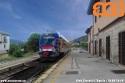 """ATr 220 """"Swing"""" nella stazione di Paganica, frazione de L'Aquila. (16-07-'19)"""