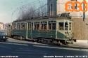 Tram Limbiate-Milano, con 85 ATM e rimorchiata, in viale dei Mille a Limbiate