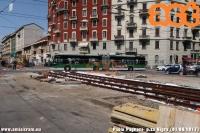 Sono iniziati i lavoro per il rinnovo dei binari in piazzale Costantino Nigra. (01-08-'17)