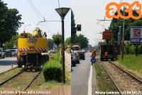 primi lavori sull'interurbana Milano-Limbiate. (13-06'17)