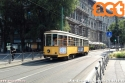 Lavori in piazza V Giornate: la linea 19 viene divisa in due tratte (Cairoli-Castelli e Lambrate-Centrale). Nella foto la 1951 effettua capolinea in piazza Castello. (21-06-'18)