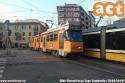 Una 4900 in servizio sul 2 sta riprendendo il percorso regolare e terminerà in Porta Genova. (19-02-'19)