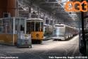 Tram di Leoncavallo, carrelli e sabbiere 700, più Eurotram di Ticinese in attesa di revisione, accantonati nel mese di luglio presso il deposito di Baggio. (25-07-'19)