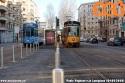 Nuovo impianto tranviario di viale Lunigiana con paletti contro la sosta selvaggia. (04-02-'20)