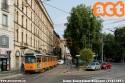 Linea 12 deviata in piazza Baiamonti. (24-07-'21)