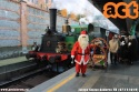 Anche quest'anno, Babbo Natale è giunto a Cadorna con la 200-05 FNM per portare la strenna ai figli dei ferrovieri. (07-12-'19)