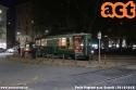 """Anche se sono solo le ore 18:00 è ormai notturna la foto alla """"sabbiera"""" 712 in piazza Castelli. (30-10-'18)"""