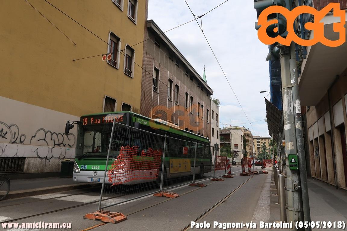 Linea 19: lavori in via Bartolini
