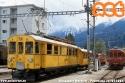 Treno Speciale ACT, con elettromotrice ABe⁴ 30 e carrozza C 104 della Ferrovia Retica, nella stazione di Pontresina